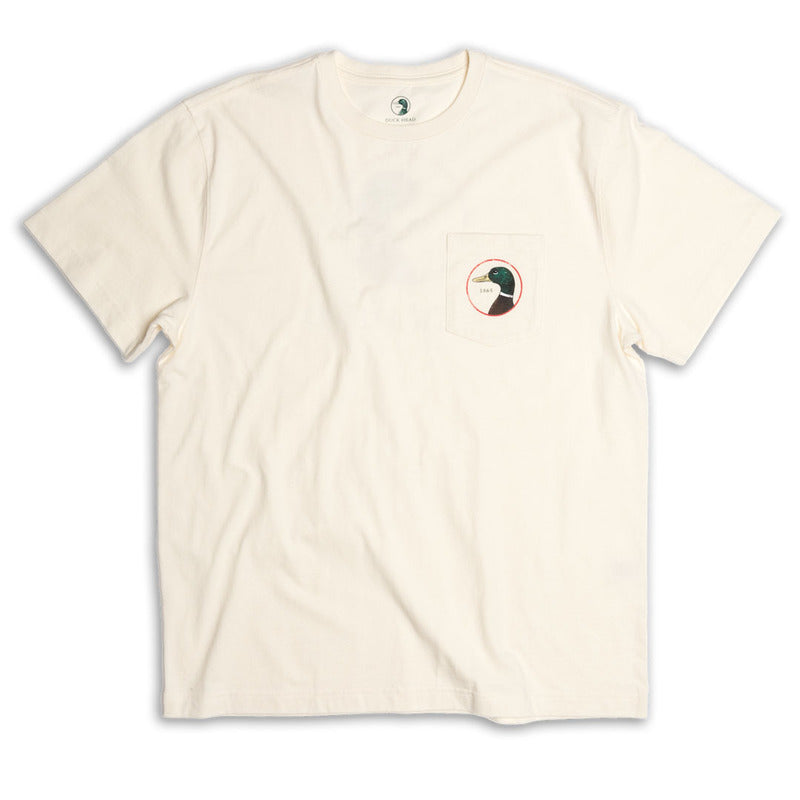 Duck Head Logo T-Shirt: Winter White