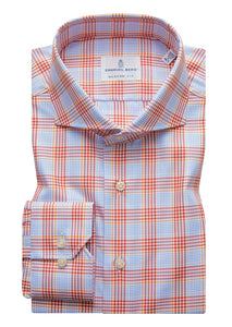 Emanuel Berg Sport Shirt: Blue & Red