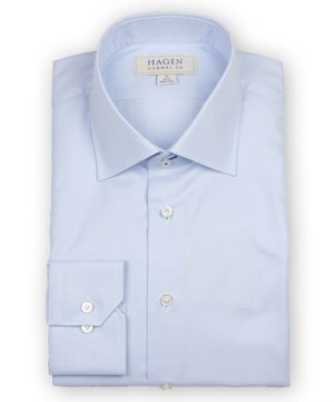 Hagen Trim Fit Dress Shirt: Blue