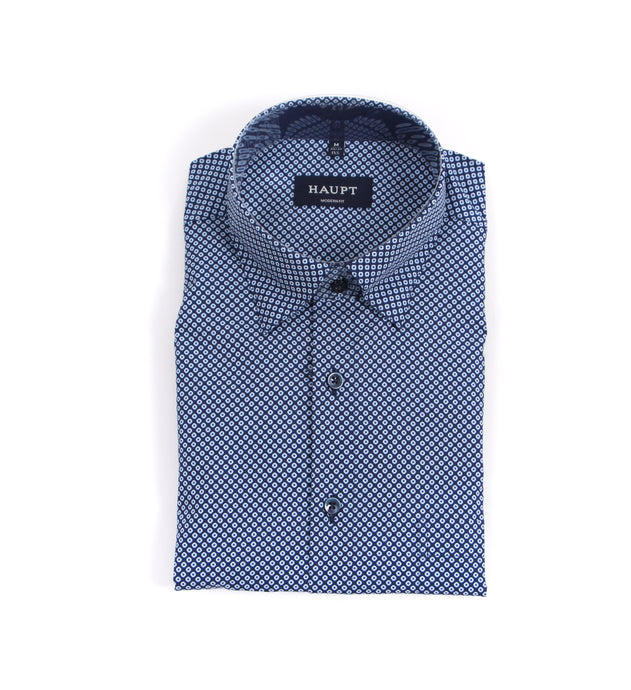 HAUPT Sport Shirt: Blue Dots