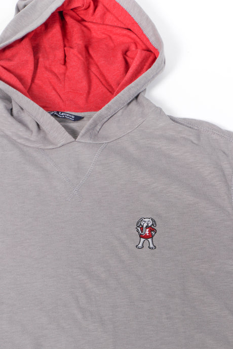Alabama Cotton Slub Hoodie: Grey