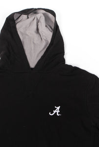 Alabama Cotton Slub Hoodie: Black