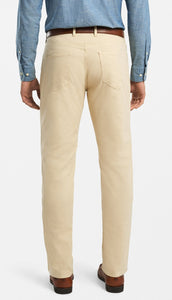 Peter Millar Cotton Canvas 5-Pocket Pant: Desert Sand