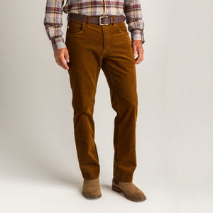 Duck Head 1865 Five-Pocket Corduroy Pant: Tobacco