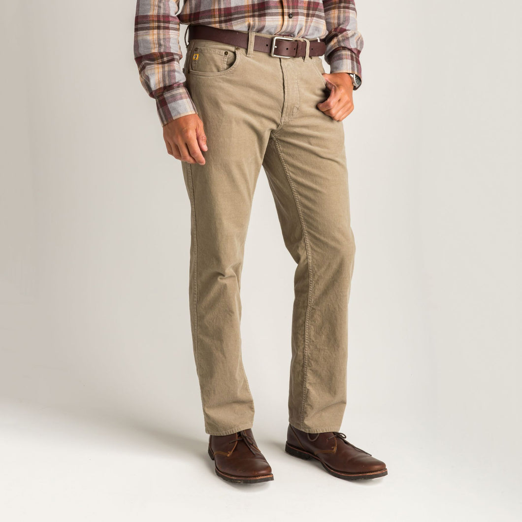 Duck Head 1865 Five-Pocket Corduroy Pant: Khaki