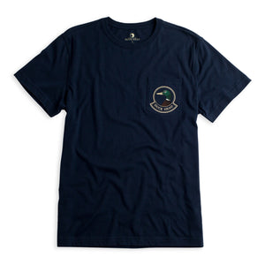 Duck Head Badge T-Shirt: Navy