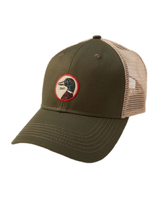 Duck Head Circle Patch Trucker Hat: Pine