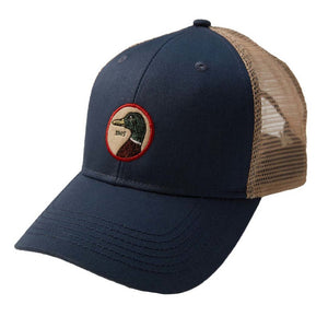 Duck Head Circle Patch Trucker Hat: Mineral