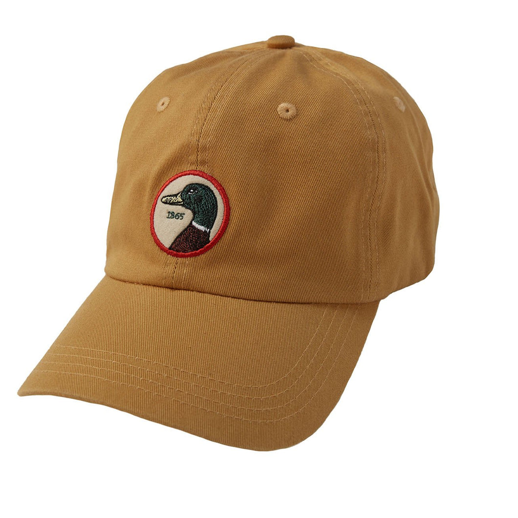 Duck Head Circle Patch Twill Hat: Gold