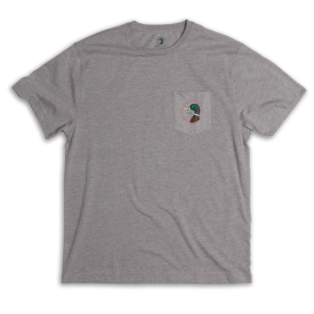 Duck Head Logo T-Shirt: Heather Grey