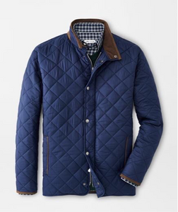 Peter Millar Suffolk Quilted Jacket: Navy