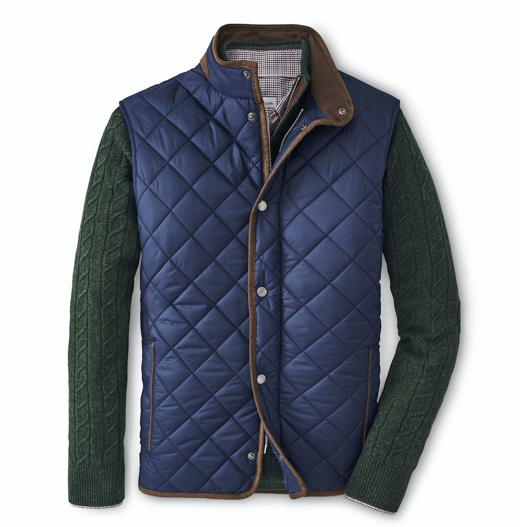 Peter Millar Essex Quilted Vest: Navy