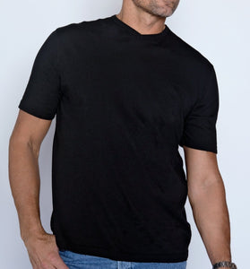Mod-o-doc Short Sleeve V-Neck Tee: Black