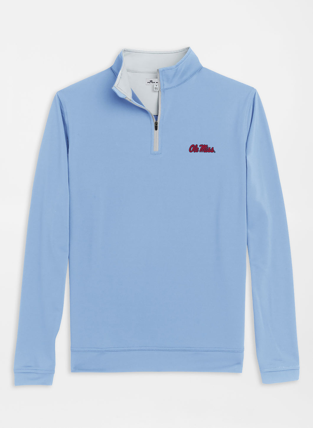 Peter Millar Ole Miss Perth Stretch Loop Terry 1/4 Zip: Cottage Blue