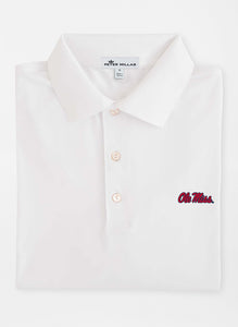 Peter Millar Ole Miss Solid Performance Polo: White