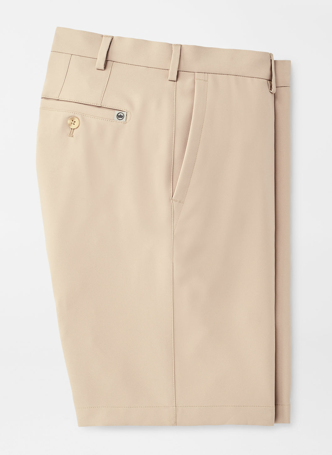 Peter Millar Salem High Drape Performance Short: Khaki