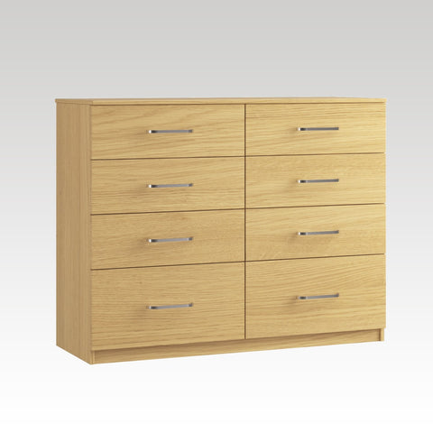 Raven 8 Drawer Twin Chest (2 Deep Drawers)