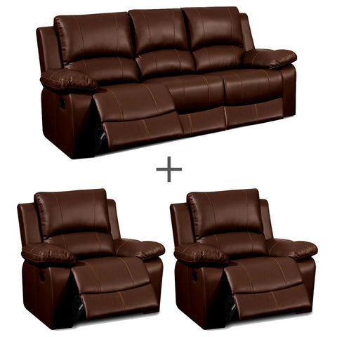 Sorrento 3 Seater & 2 Recliner Chairs