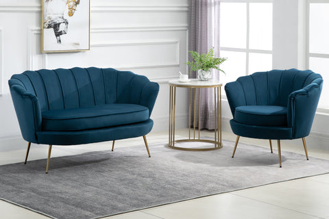 Ariel Chair - Blue & Coral