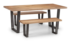 Brooklyn Dining Table & 2 Benches