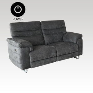 Power Two Seater Sofa in Pewter Fabric