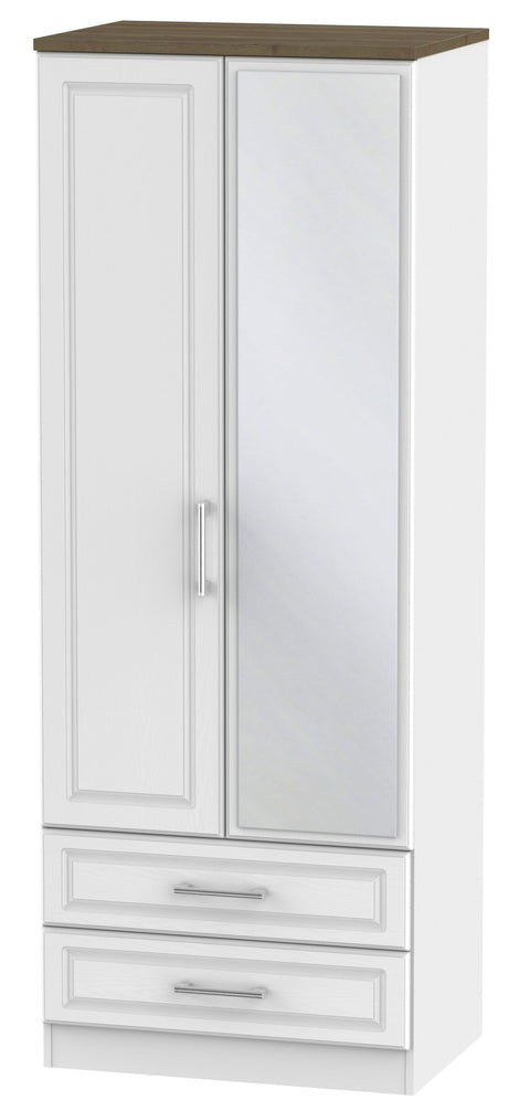 Sussex 2 Door 2 Drawer Tall Mirror Wardrobe