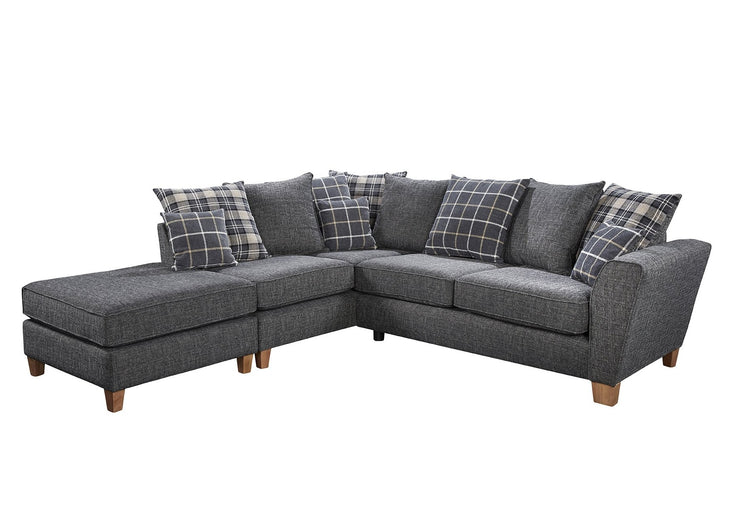 Lucy Left Hand Facing Small Armless Chaise Group Sofa