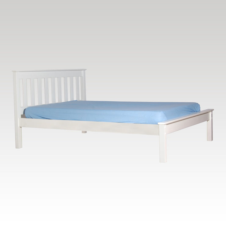 Mission Double White Bedframe