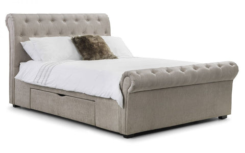 Ravello Deep Button Scroll Bed