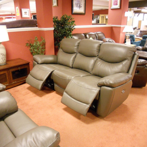 Salisbury 3 seater sofa and 2 chair power recliner set (leather)