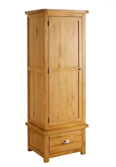 Sophie 1 Door 1 Drawer Oak Wardrobe