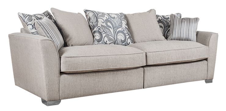 Fantasia Pillow Back 4 Seater Modular Sofa