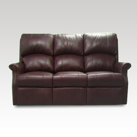 Regent Reclining 3 Seat Leather Settee