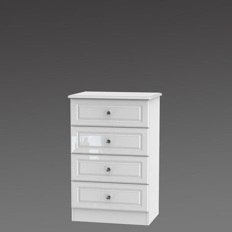 Crystal 4 Drawer Midi Chest