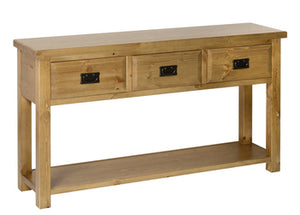 Devon 3 Drawer Console Table