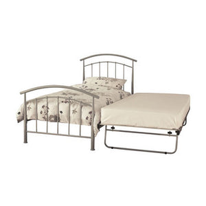 Neptune Small Guest Bed Frame in Pearl Silver