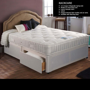 Small-Double Backcare Supreme Four-Drawer Divan Bed
