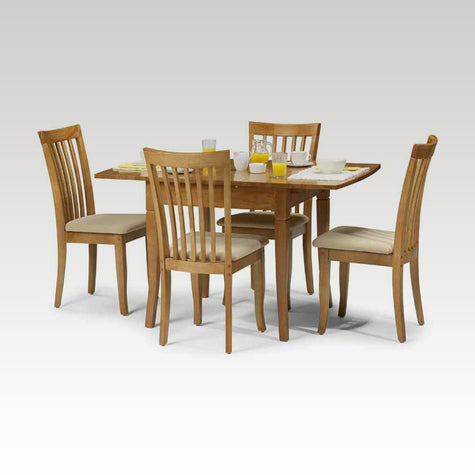Sandown small but extending table + 4 chair set
