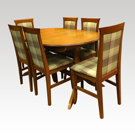 Vintage Extending Table + 6 Chair Set