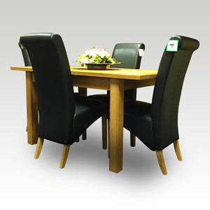 Cuban Extending Table + 4 Chair Set