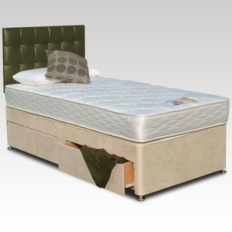 House Of Reeves Single Backcare Supreme Two-Drawer Divan Bed