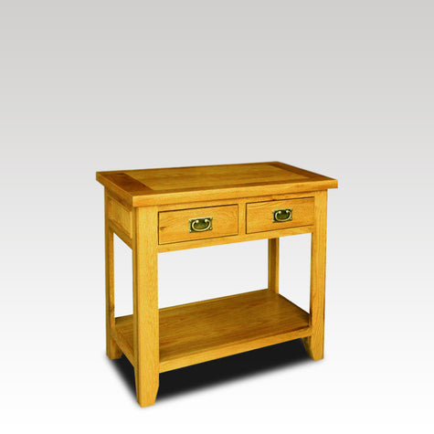 Eden Oak 2 Drawer Console Table