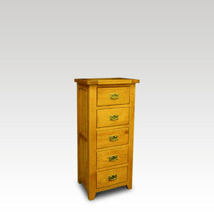 Eden Oak 5 Drawer Tall Chest