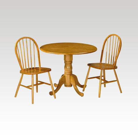 Dundee small round drop-leaf table + 2 chair set