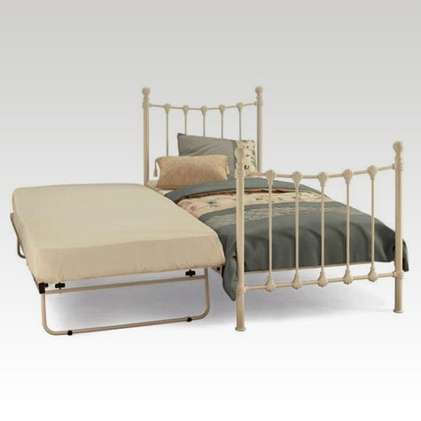 Marseilles Guest Bed Frame in Ivory Gloss