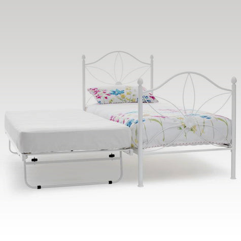 Daisy Guest Bed Frame in White Gloss