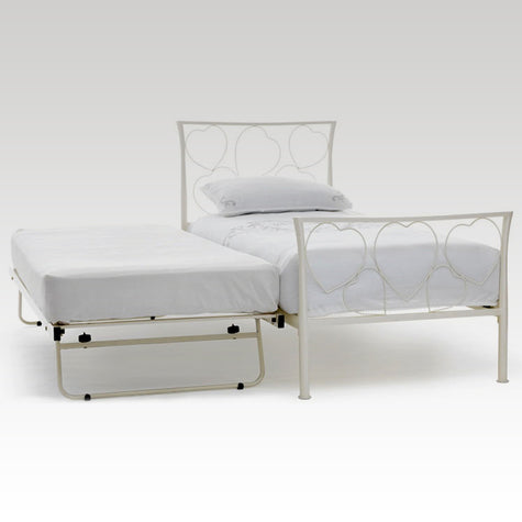 Chloe Guest Bed Frame in Ivory Gloss