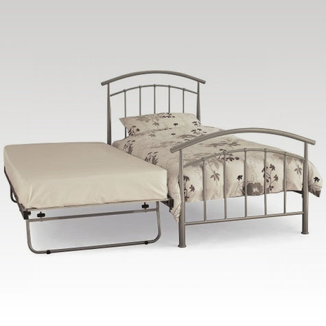 Mercury Guest Bed Frame in Pearl Silver