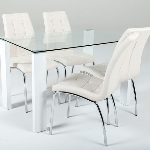 Savona Medium Set White or Black (4 Lugano Chairs)