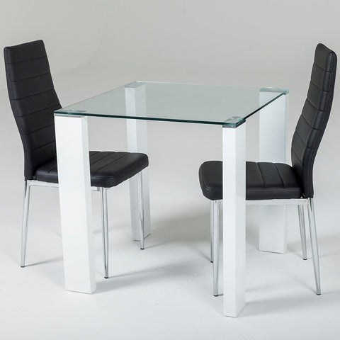 Savona Honeymoon Set Black or White (2 Torino Chairs)